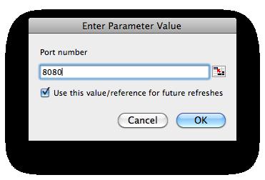 Enter parameter